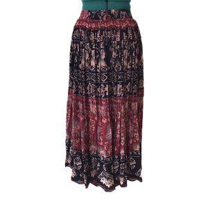 Jessie Vintage Boho Peasant Skirt with String Tie